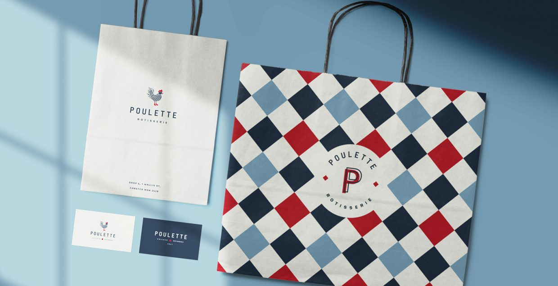 Poulette Rotisserie, bran, branding, design, pattern, vintage, aesthetic, design, graphic, dinner, Australia, Mindsparkle Mag