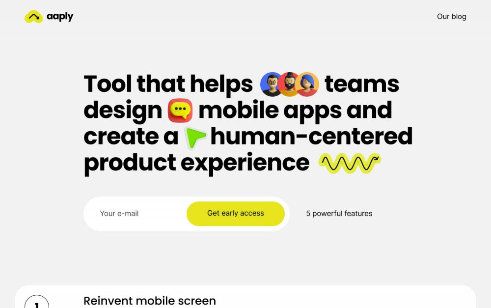 aaply, app, website, sotd, site of the day, colorful, userflow, ux ui, design, Mindsparkle Mag
